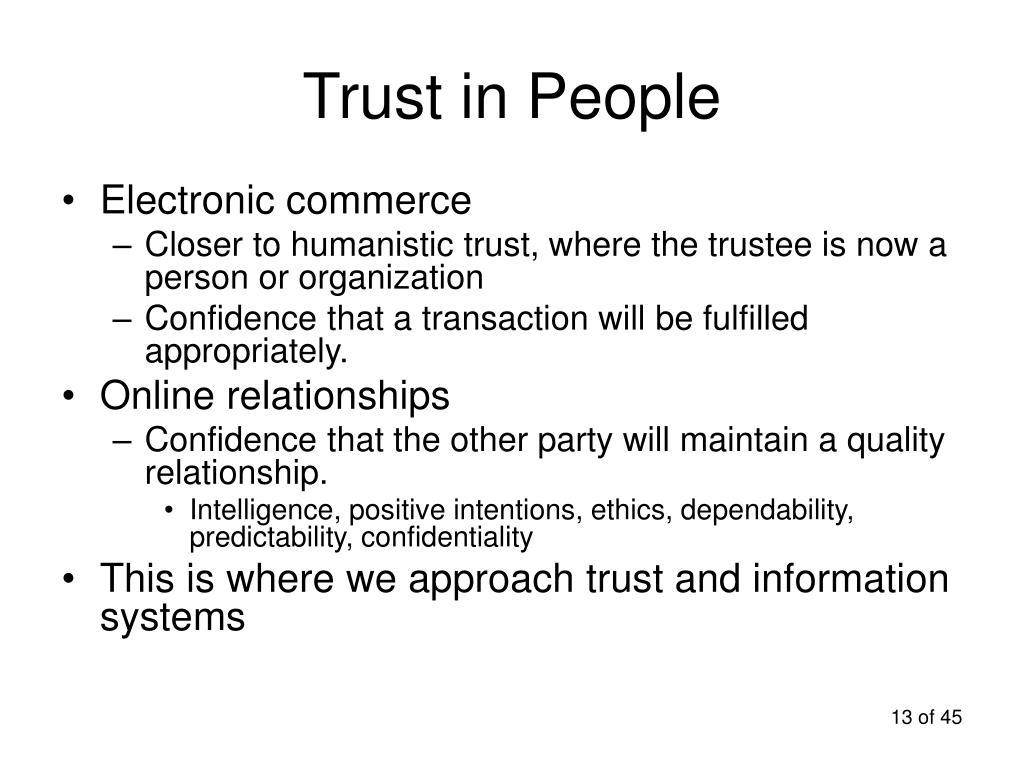 Trust in People