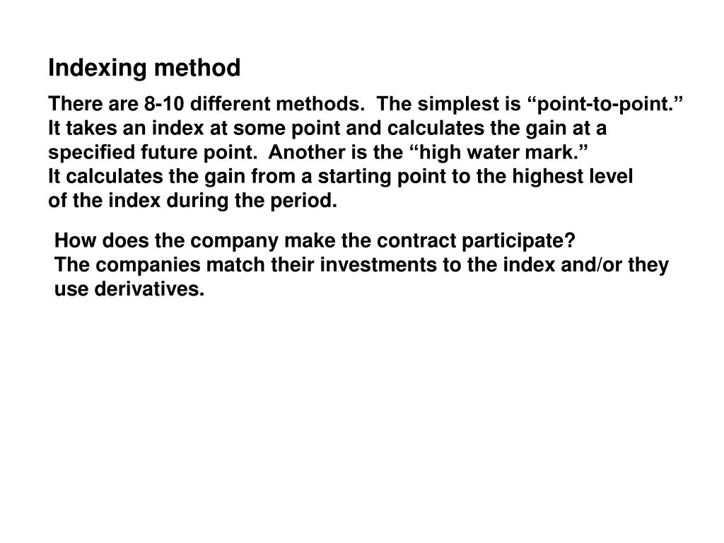 Indexing method