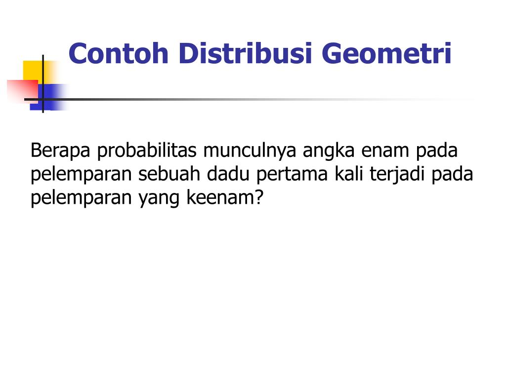 Contoh Distribusi Geometri