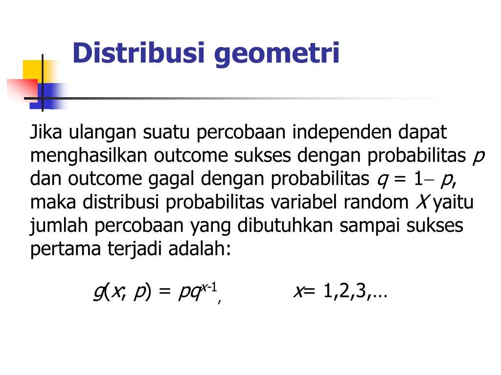 Distribusi geometri