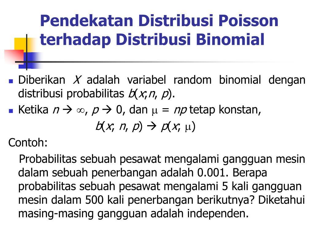 Pendekatan Distribusi Poisson terhadap Distribusi Binomial