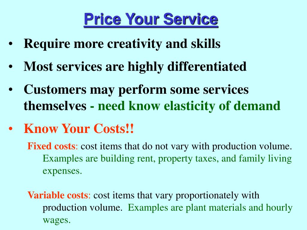 Price Your Service