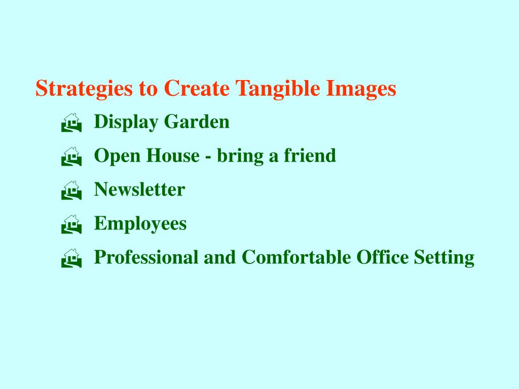Strategies to Create Tangible Images