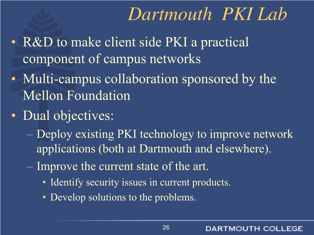Dartmouth  PKI Lab