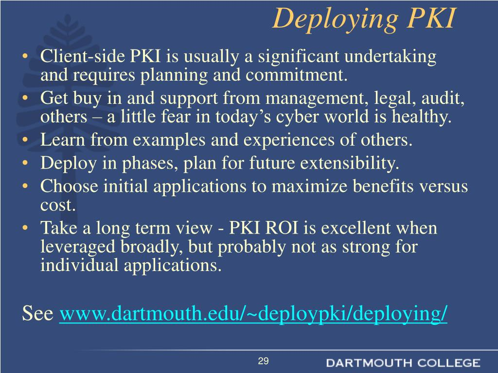 Deploying PKI