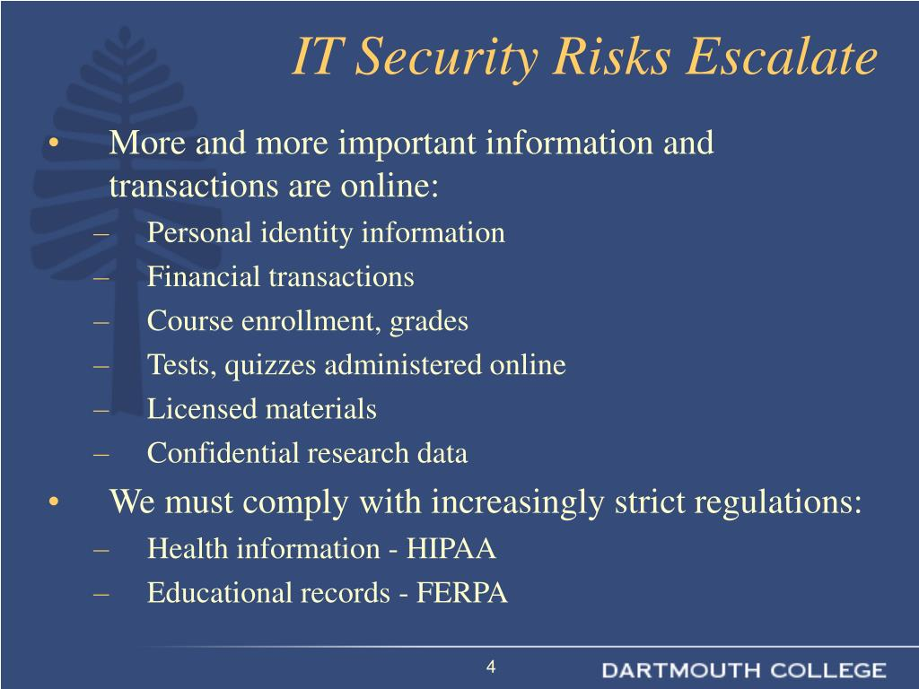 IT Security Risks Escalate