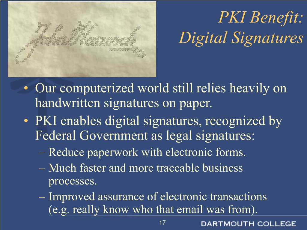 Our computerized world still relies heavily on handwritten signatures on paper.