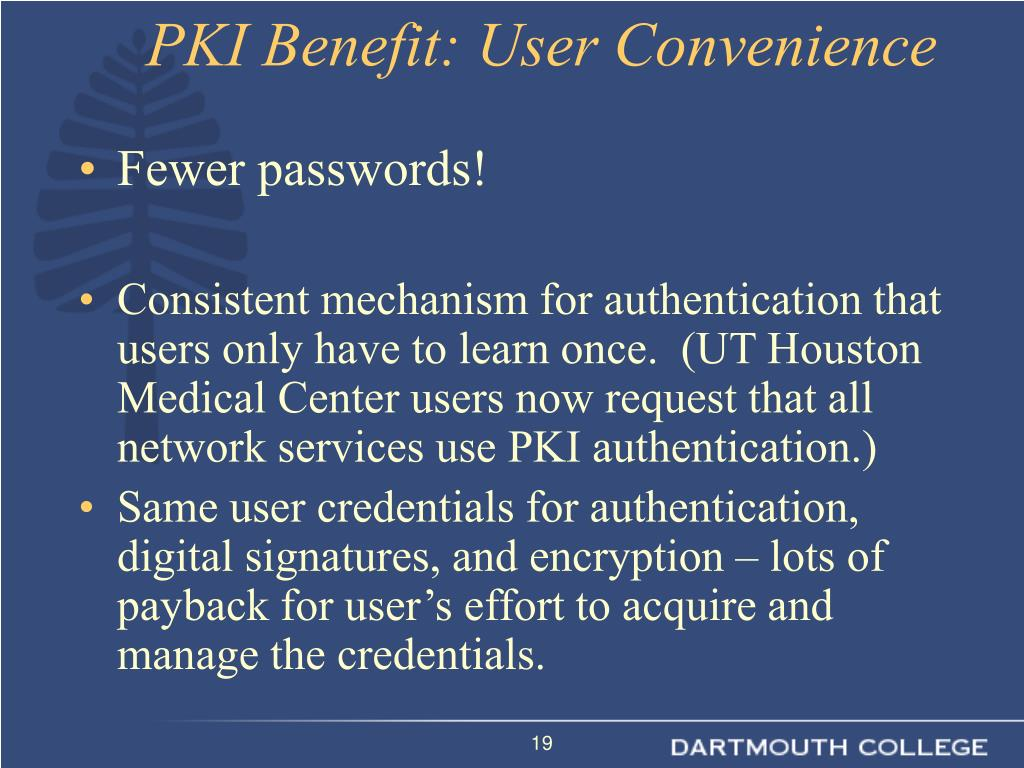 Fewer passwords!