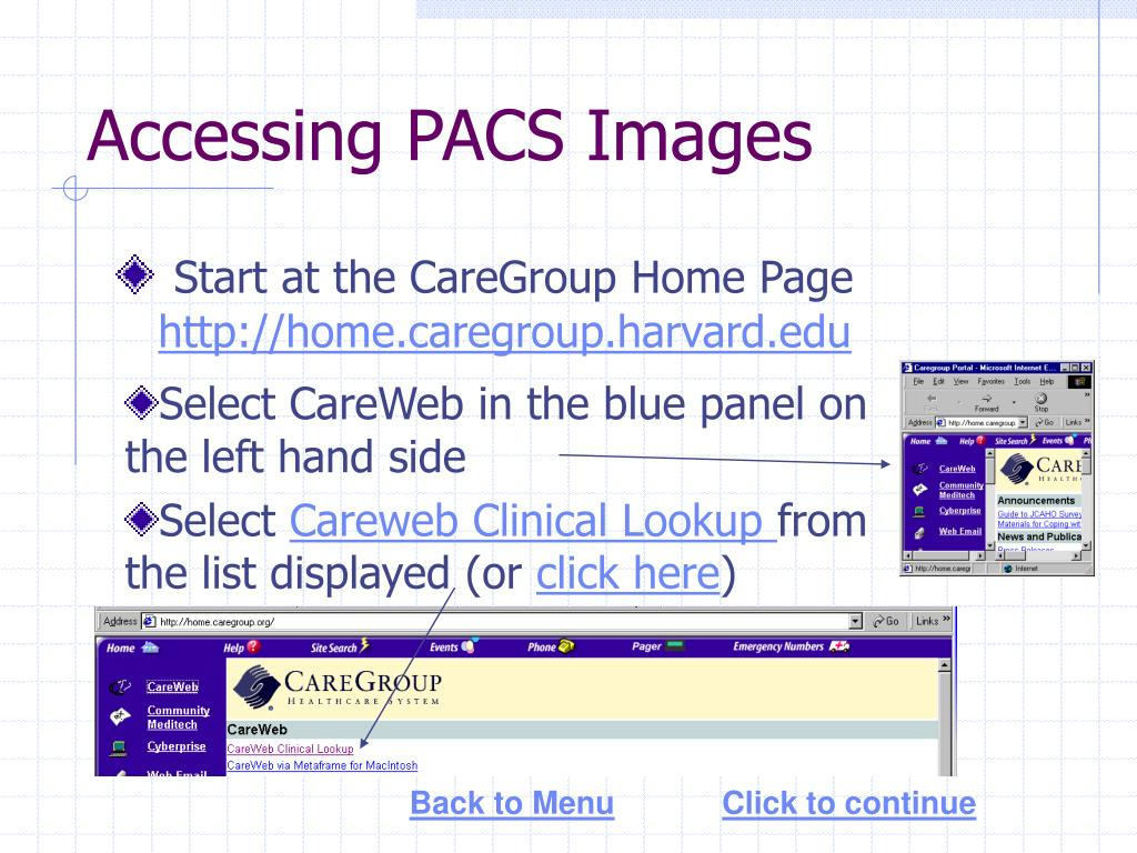 Accessing PACS Images