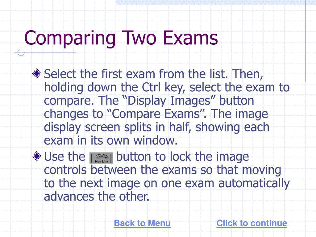 Comparing Two Exams