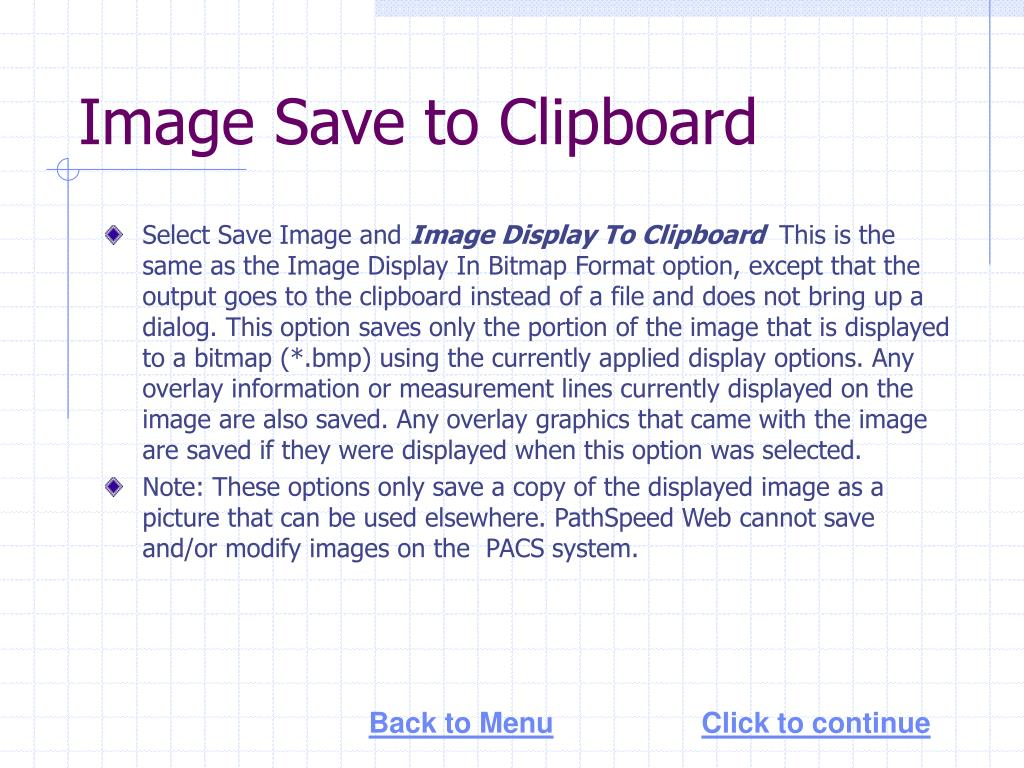 Image Save to Clipboard