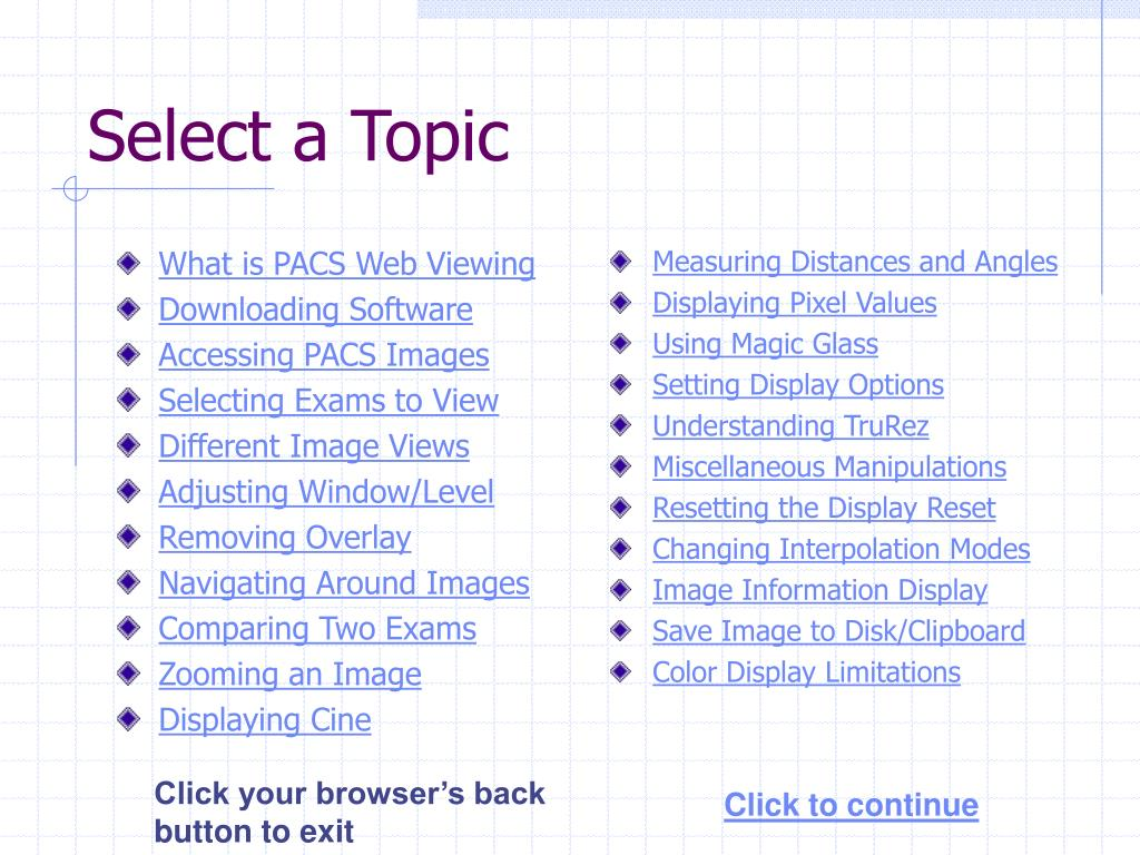 What is PACS Web Viewing