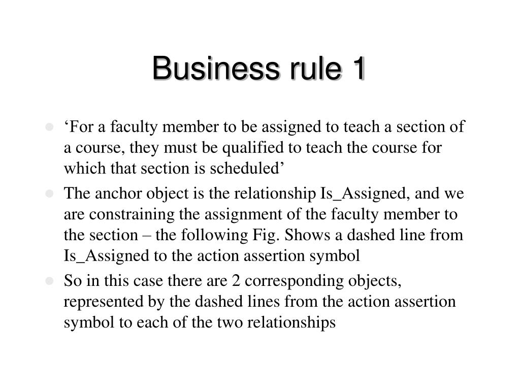 Business rule 1