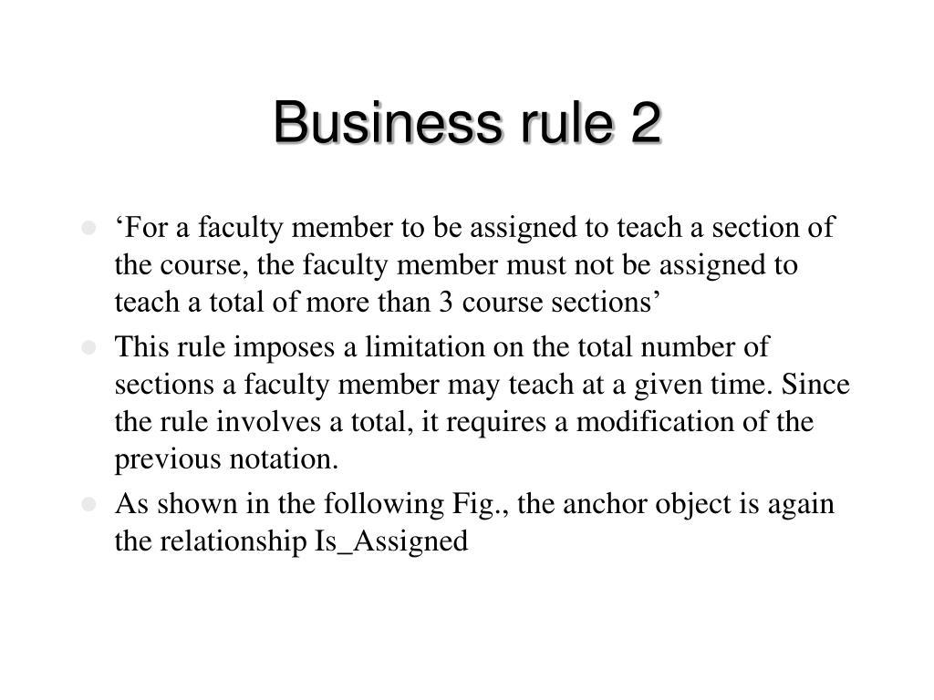 Business rule 2