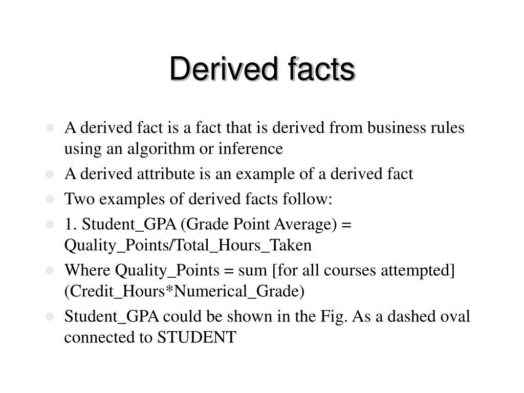Derived facts