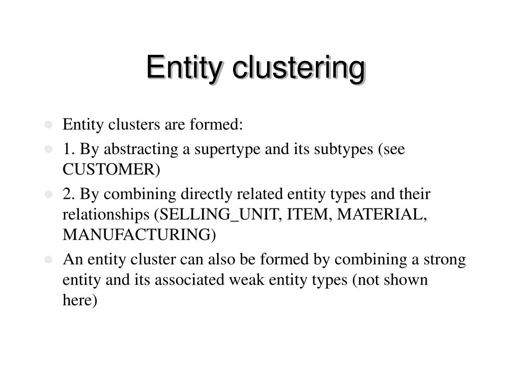 Entity clustering