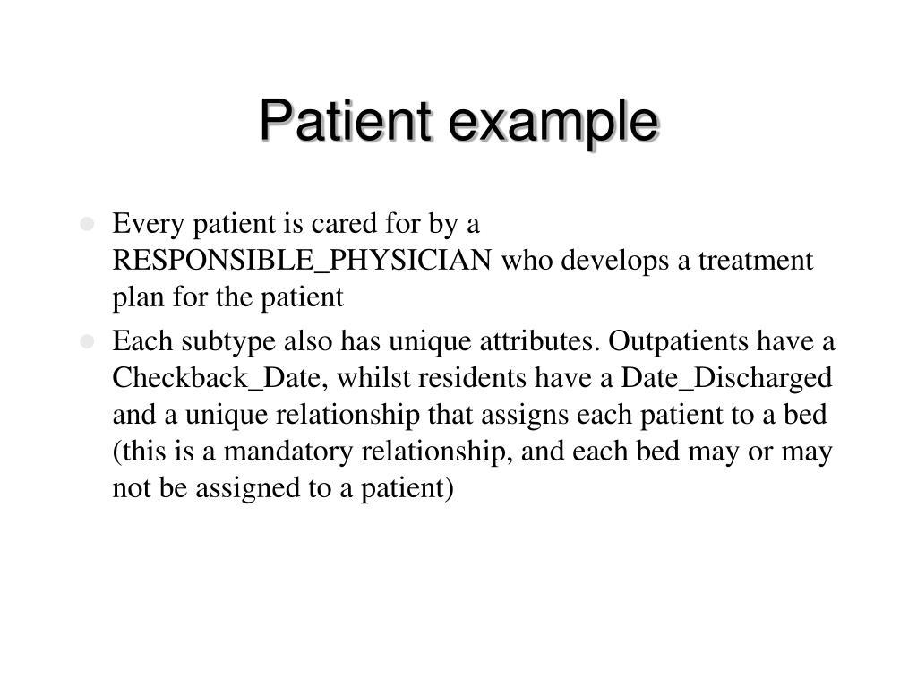 Patient example
