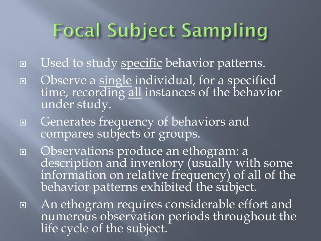 Focal Subject Sampling