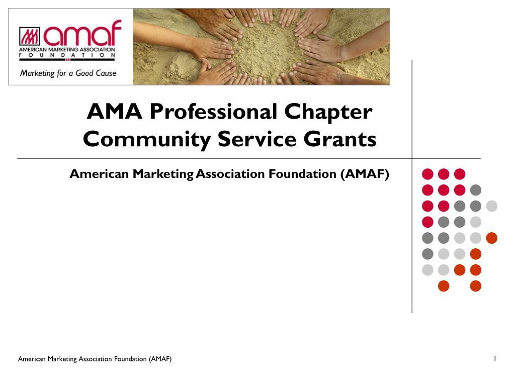 AMA Professional Chapter Community Service Grants