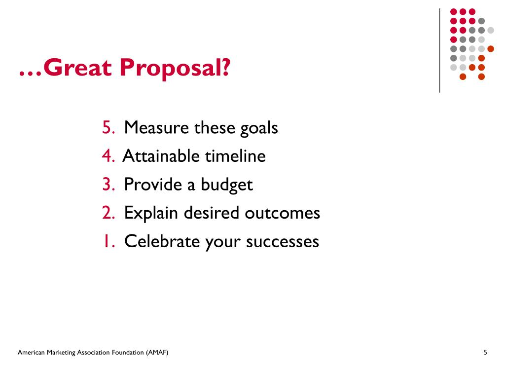 …Great Proposal?