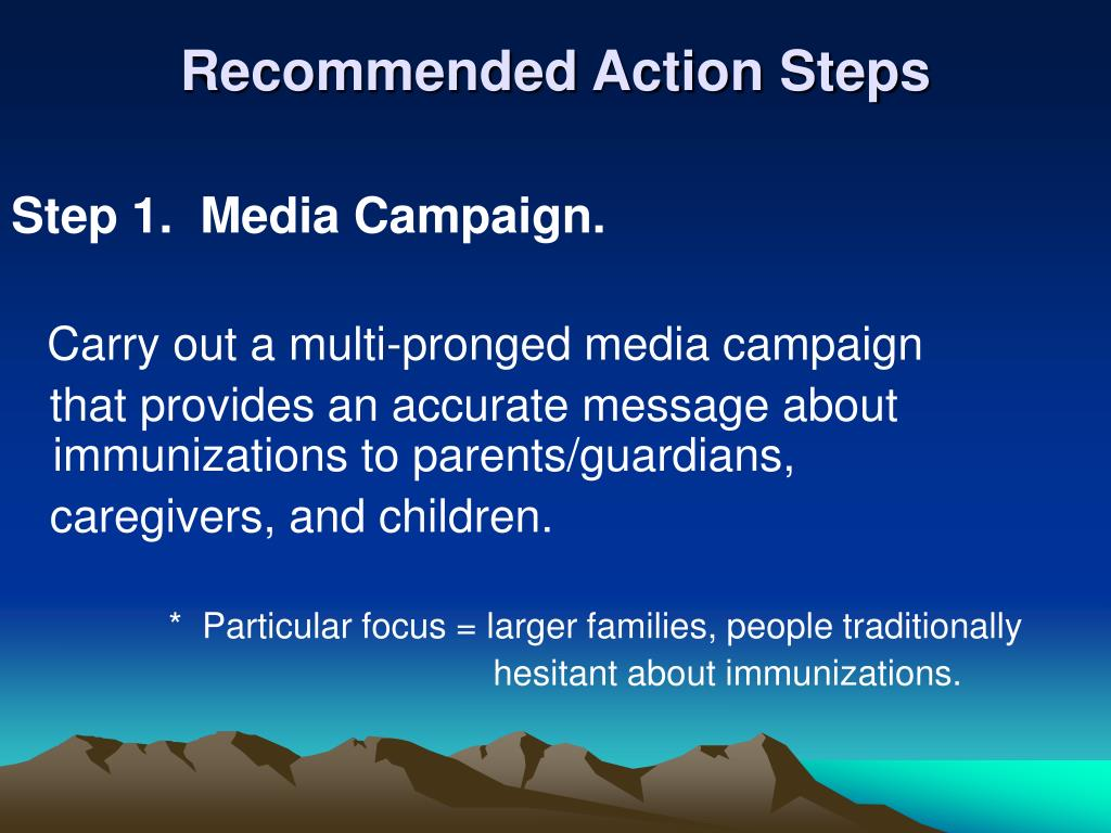 Recommended Action Steps