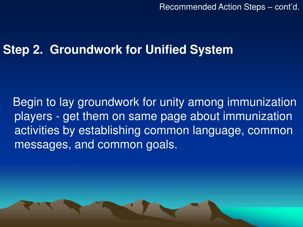 Recommended Action Steps – cont'd.