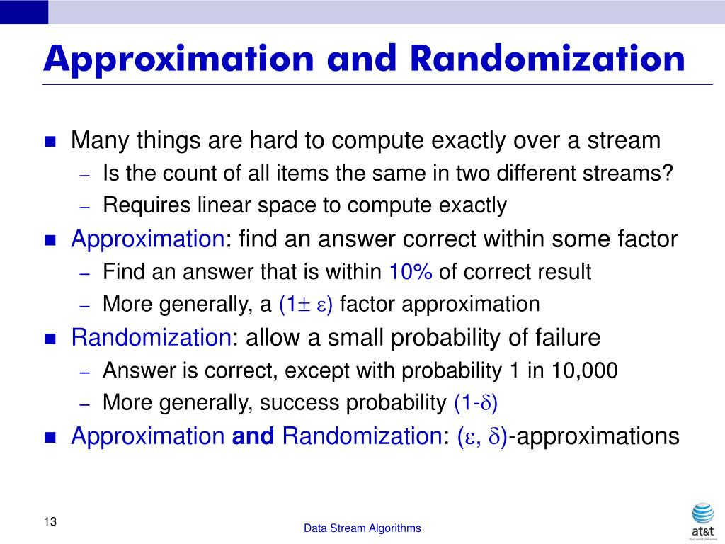 Approximation and Randomization