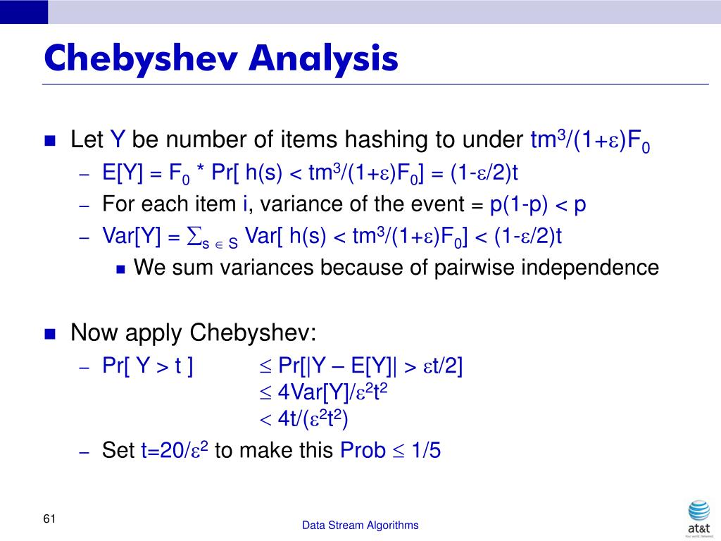 Chebyshev Analysis
