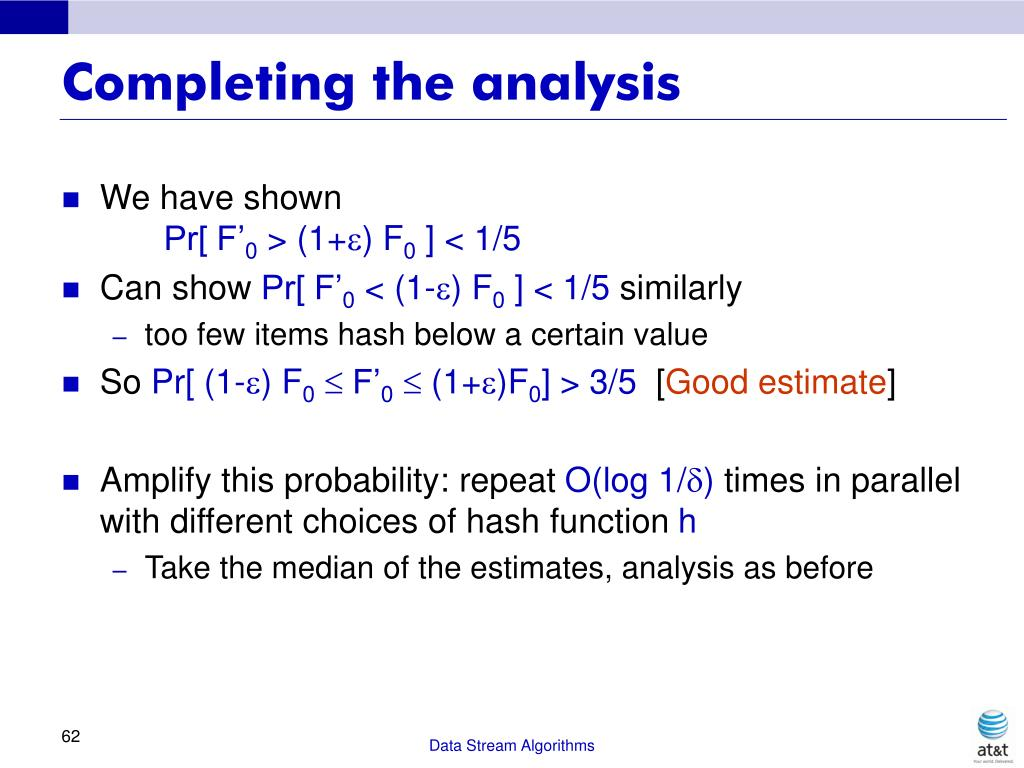 Completing the analysis