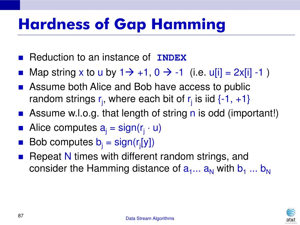 Hardness of Gap Hamming