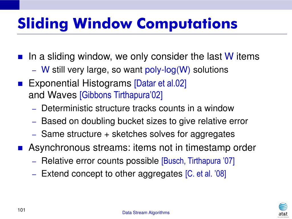 Sliding Window Computations