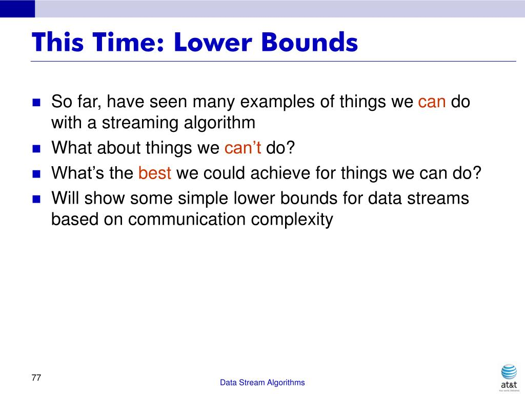 This Time: Lower Bounds
