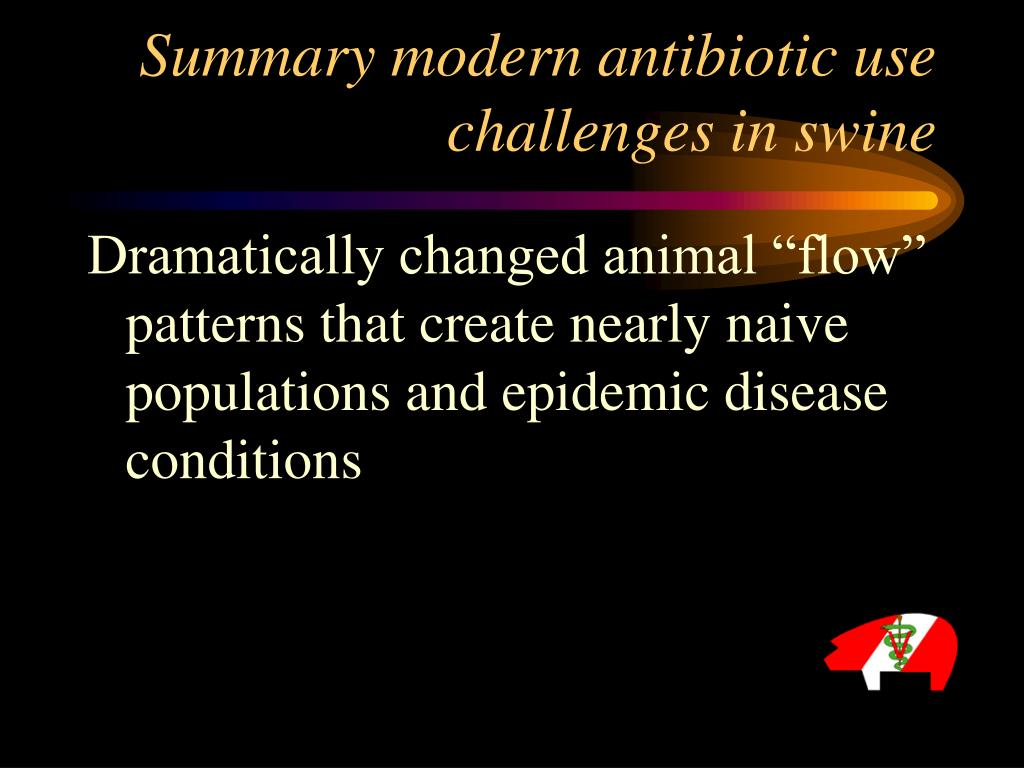 Summary modern antibiotic use challenges in swine