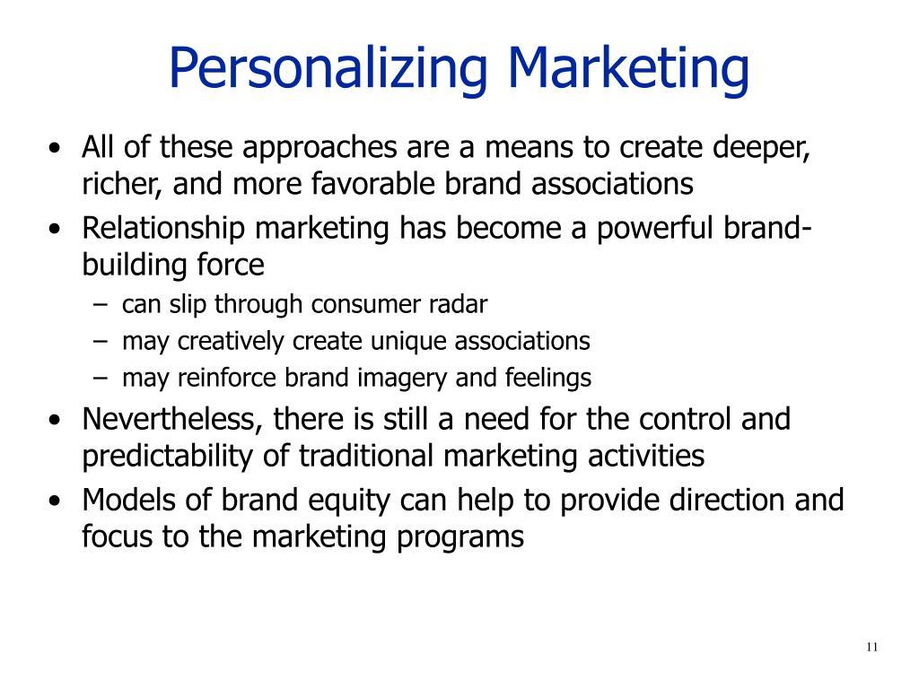 Personalizing Marketing