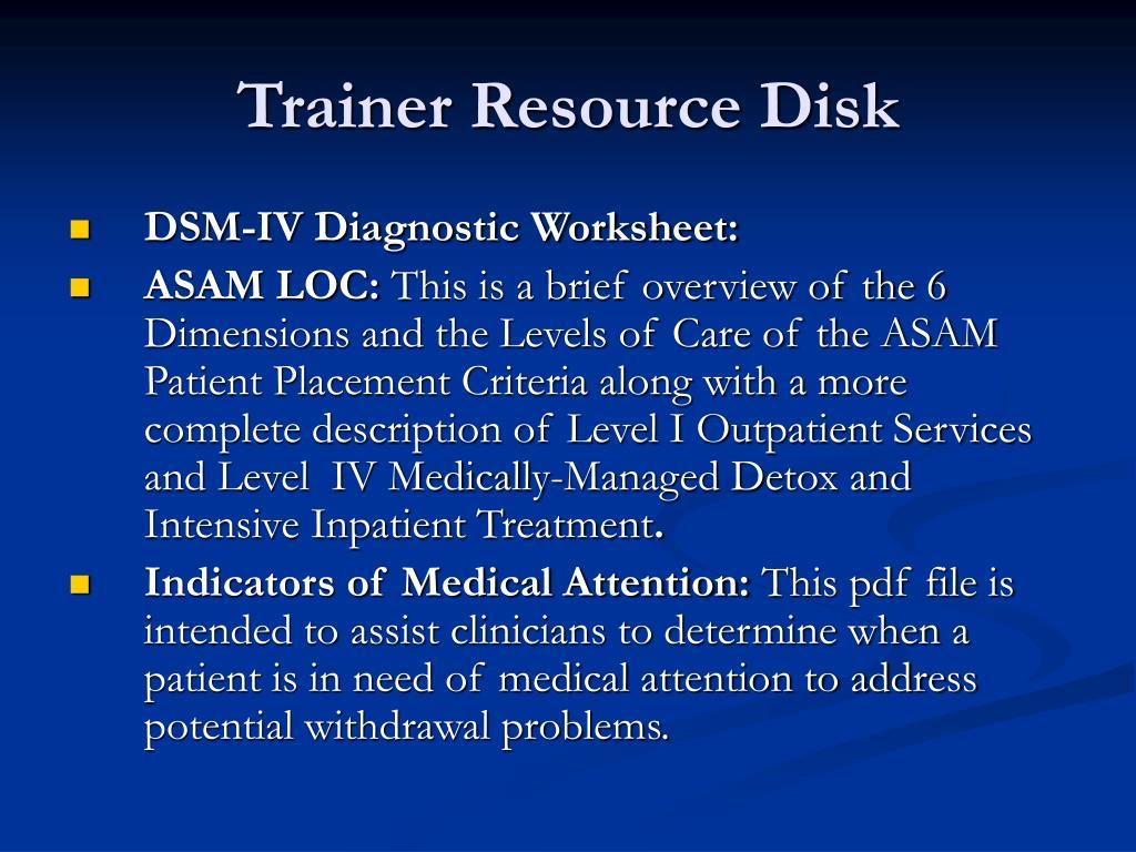 Trainer Resource Disk