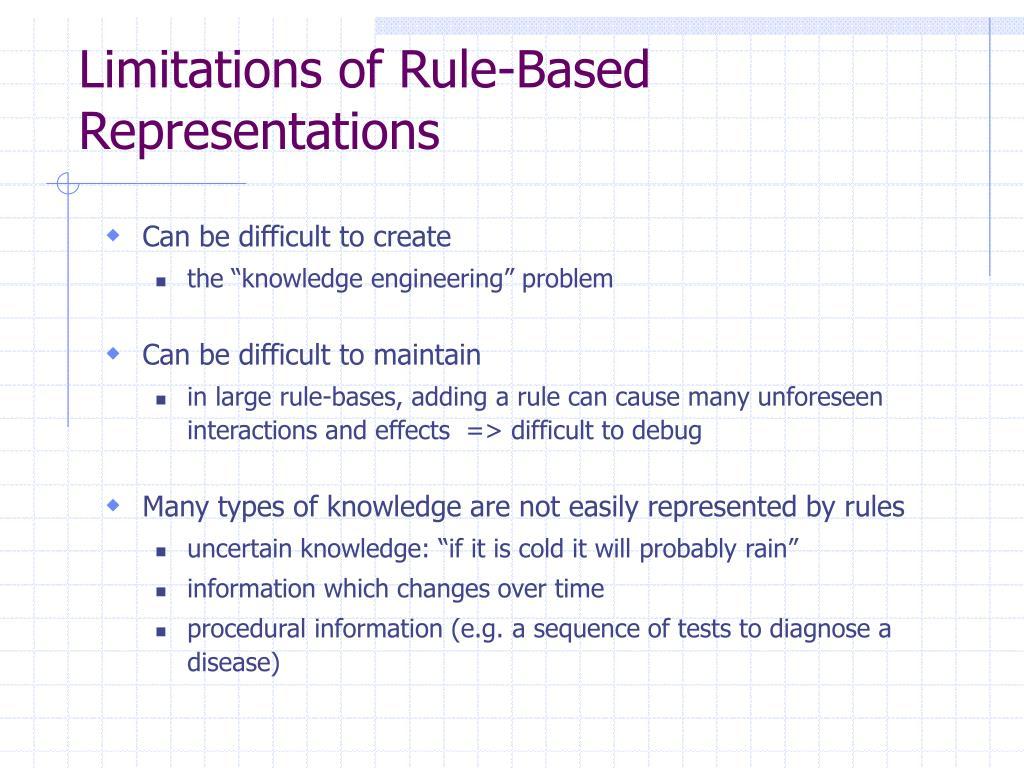 Limitations of Rule-Based Representations