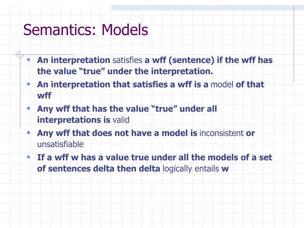 Semantics: Models