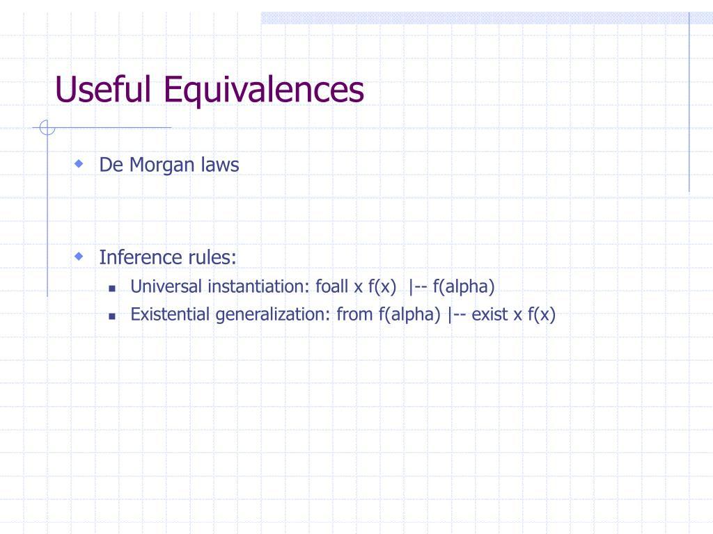Useful Equivalences