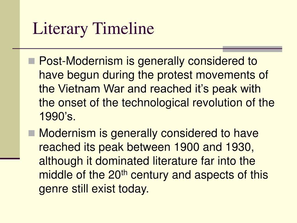 Literary Timeline
