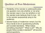 qualities of post modernism