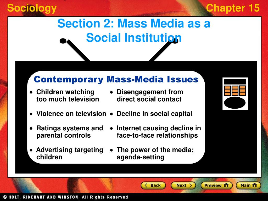 Contemporary Mass-Media Issues