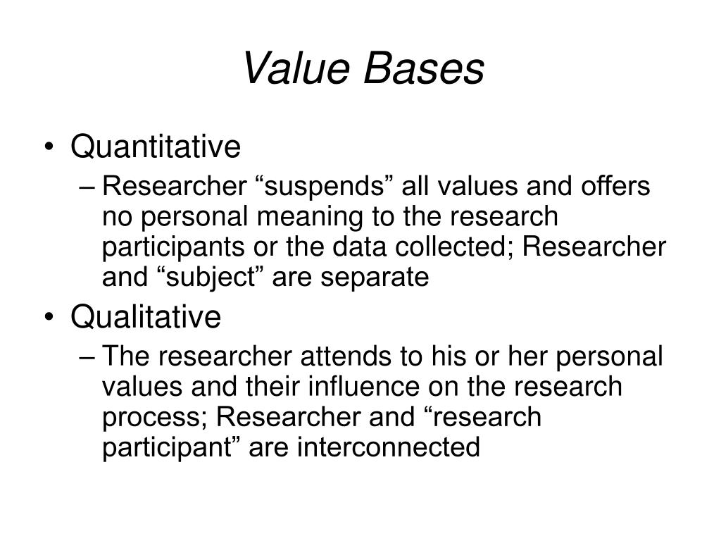 Value Bases