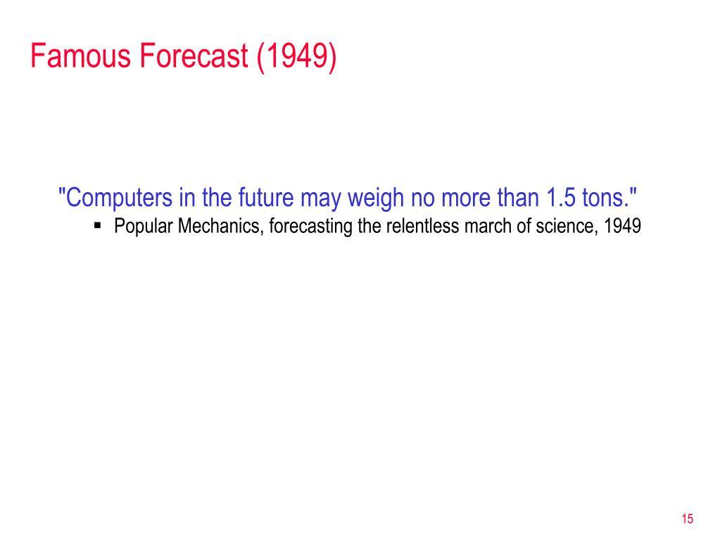 Famous Forecast (1949)