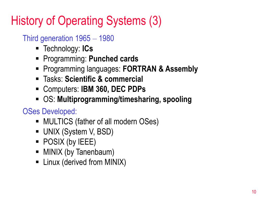 History of Operating Systems (3)