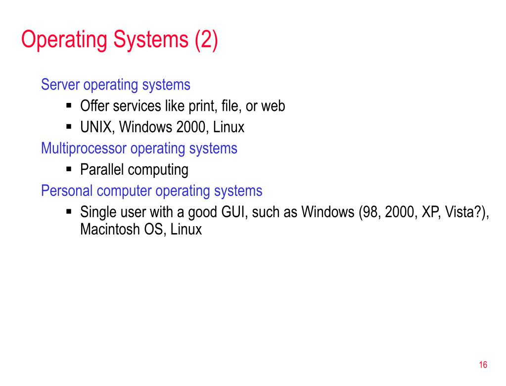 Operating Systems (2)