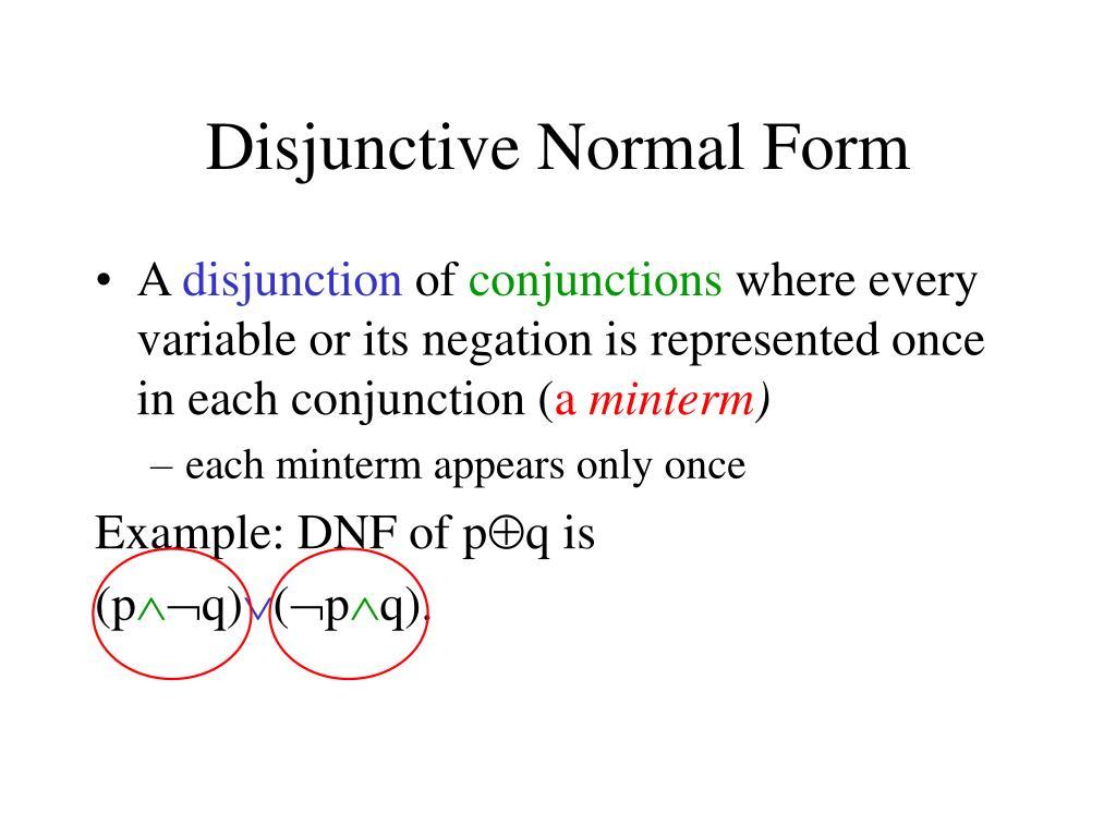 Disjunctive Normal Form