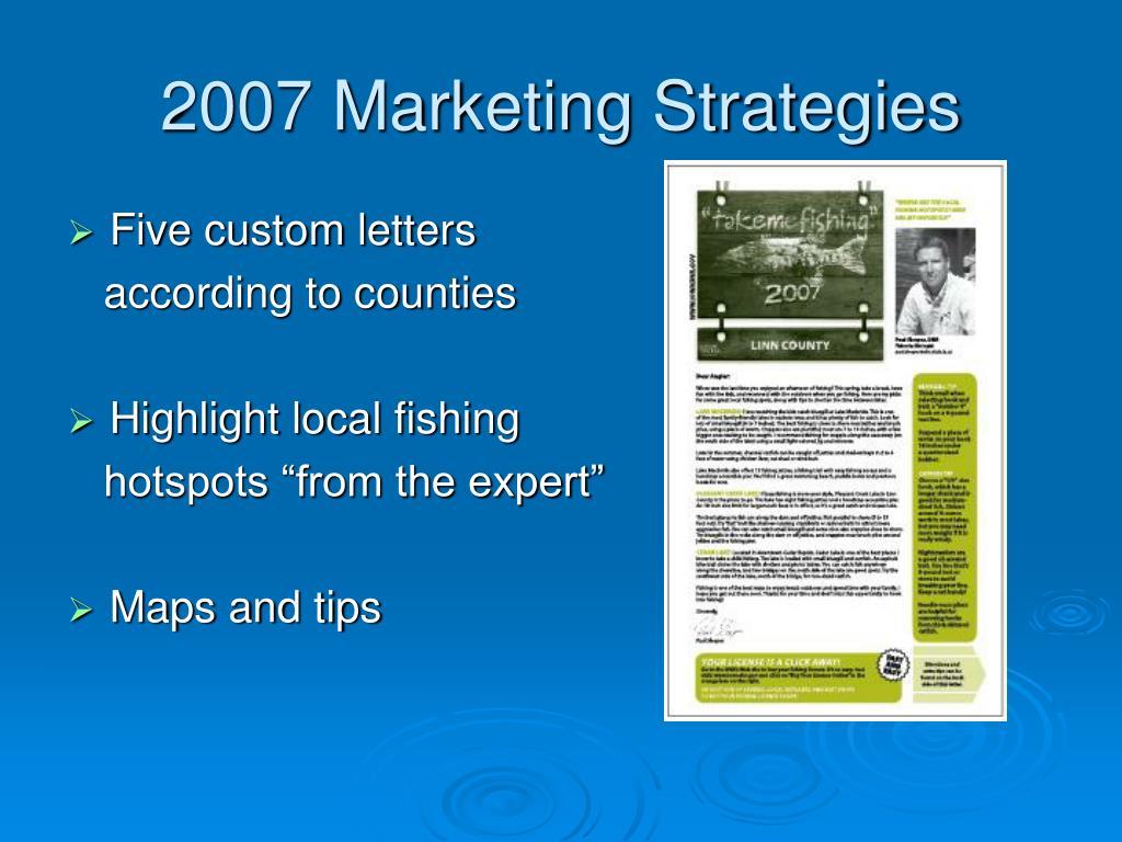 2007 Marketing Strategies