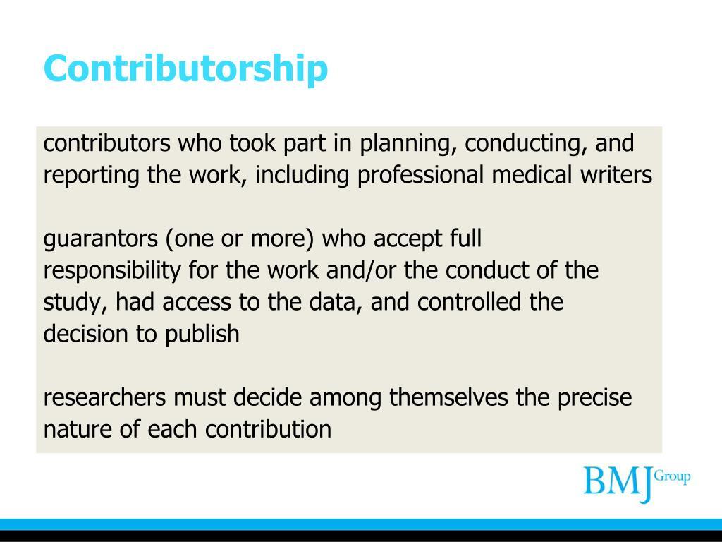 Contributorship