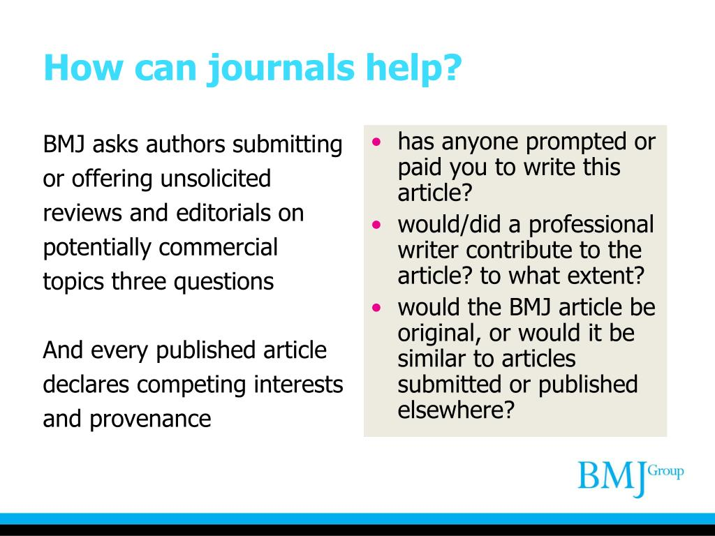 BMJ asks authors submitting