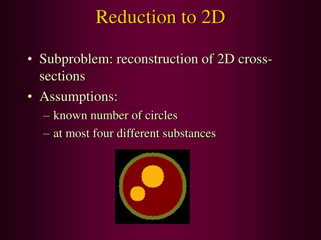 Reduction to 2D